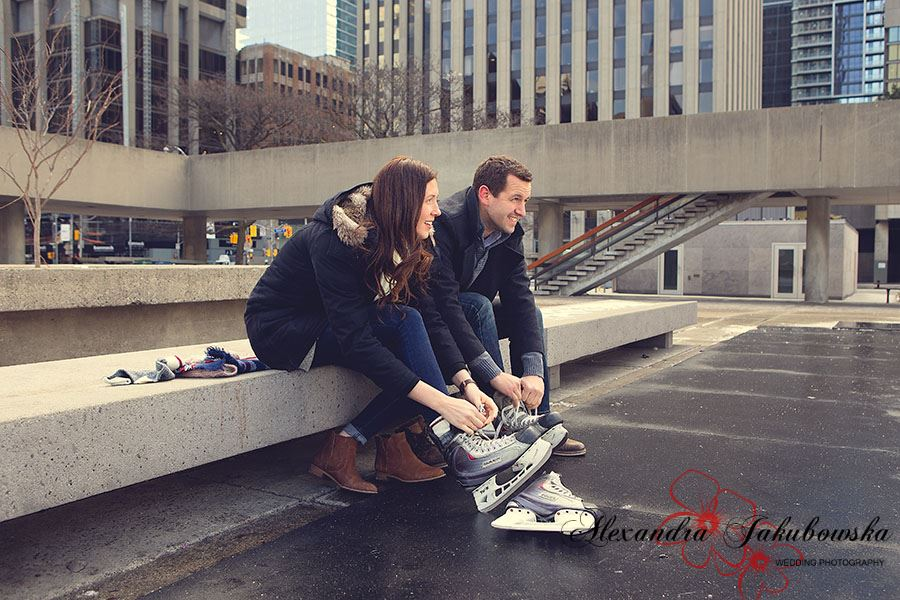 Engagement session in downtown Toronto
