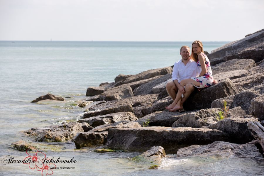 Engagement session at Scarborough Bluffs, Toronto