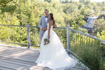 Hamilton wedding couple