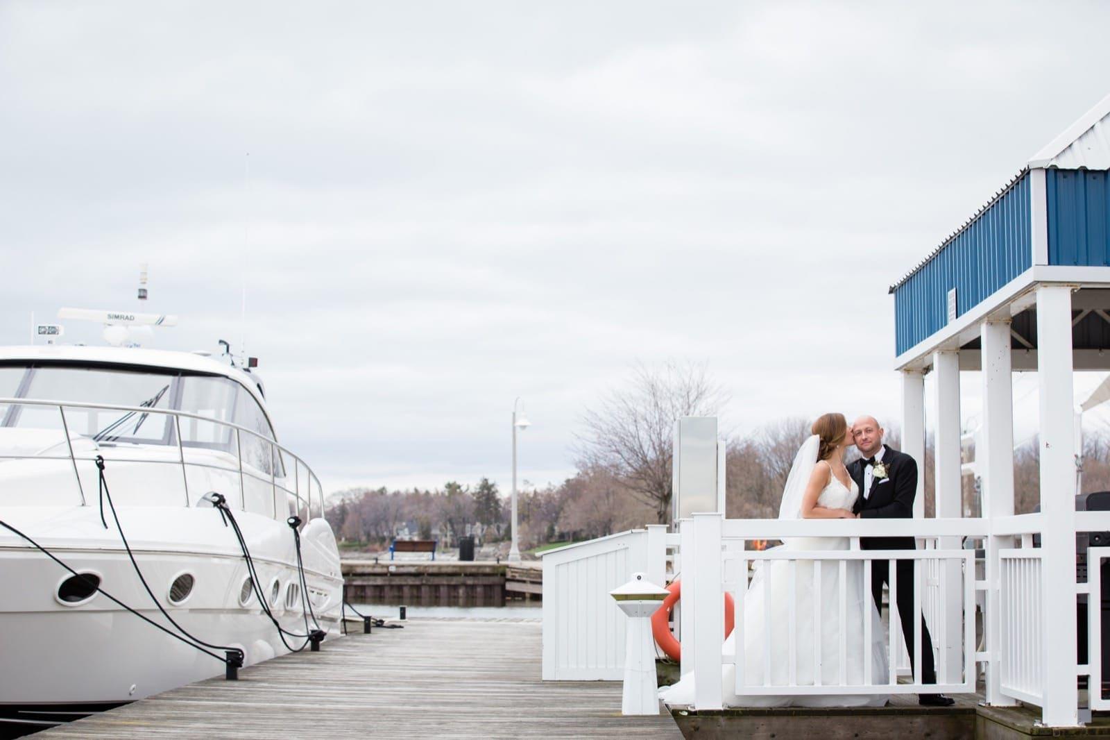 Oakville wedding couple