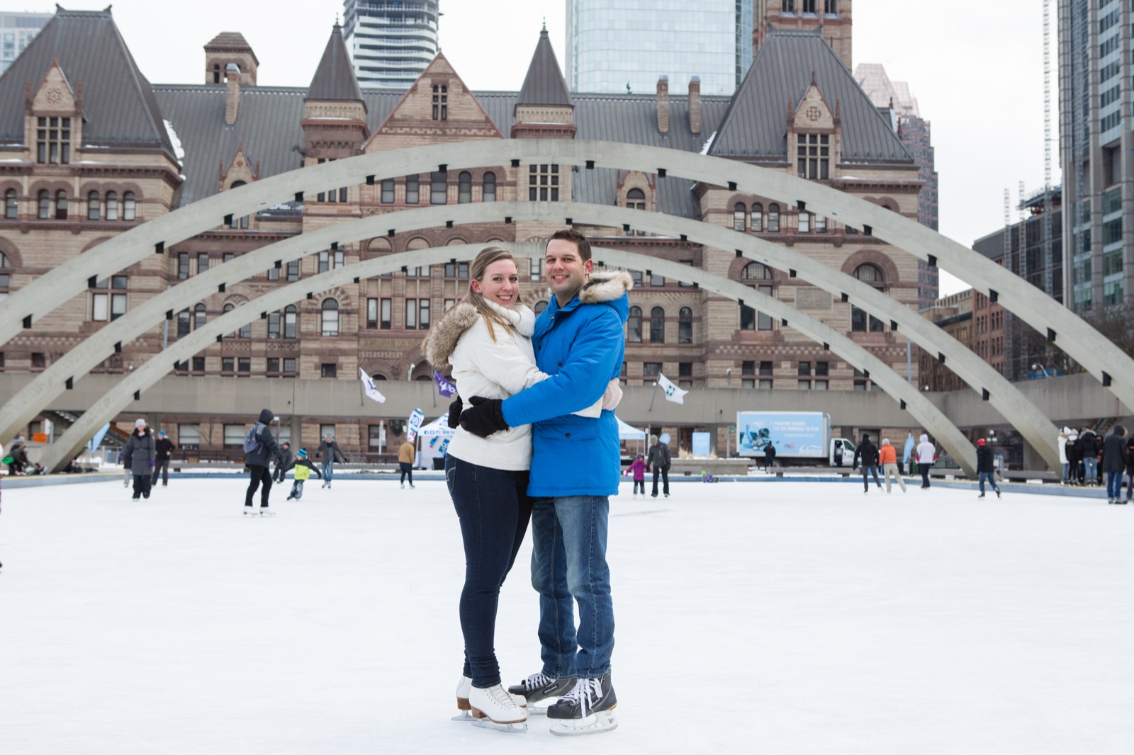 Winter Toronto engagement session