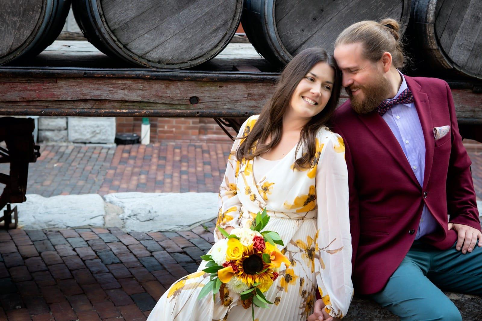 Wedding photography at Balzac's Distillery District