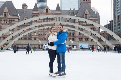 Winter Toronto engagement session